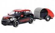 Mini . S Countryman noir/rouge avec caravane 1/24