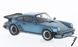Porsche . (930) Turbo USA bleu métallisé 1/43