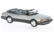 Saab . convertible metallic grey 1/43