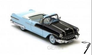 Pontiac . Convertible, noire et bleu 1/43