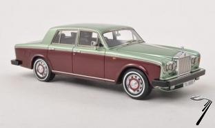 Rolls Royce . Shadow II vert/bordeaux 1/43