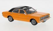 Ford . GXL 4 portes Orange Noire 1/43