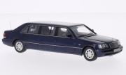 Mercedes . W140 Stretch Limousine metallic blue 1/43