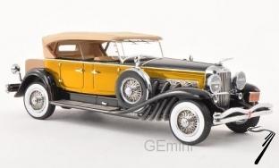 Duesenberg . Model J Tourster Derham jaune 1/43