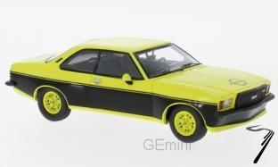 Opel . B jaune/noir 1/43