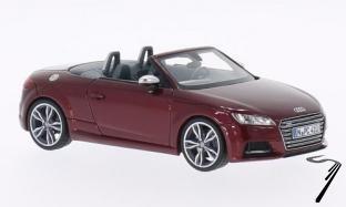 Audi . S cabriolet rouge foncé métallisé 1/43