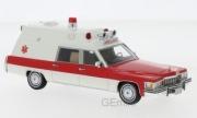 Cadillac . Ambulance blanche / rouge 1/43