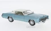 Cadillac . coupé bleu métallisé/blanc 1/43