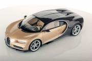 Bugatti Chiron marron carbonne / soie doré marron carbonne / soie doré 1/18