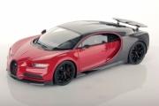 Bugatti Chiron Sport gris carbone/rouge Italien - avec aileron  Sport gris carbone/rouge Italien - avec aileron  1/18