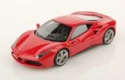 Ferrari 488 GTB rouge course métallisé rouge course métallisé 1/18