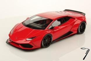 Lamborghini Huracan LB performance rouge Mars - Boite abimée - Modèle intact LB performance rouge Mars 1/18