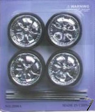 Divers Set de 4 roues Spintex de 33,9mm diamètre  1/18