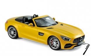 Mercedes . GT C cabriolet jaune métallisé 1/18