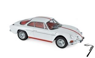 Alpine Renault A110 1600S blanc avec bandes rouge 1600S blanc avec bandes rouge 1/18