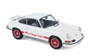 Porsche 911 RS Blanche -déco rouge RS Blanche avec décoration rouge  1/18
