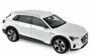 Audi . e-tron blanc métallisé 1/18
