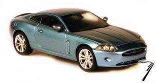 Jaguar XK coupe bleu bleu 1/43