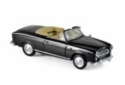 Peugeot . cabriolet noir 1/87