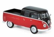 Volkswagen . double cabine rouge/noir 1/43