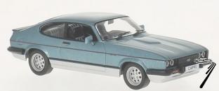 Ford . MKIII 2.8 injection bleu métallisé/argent 1/43