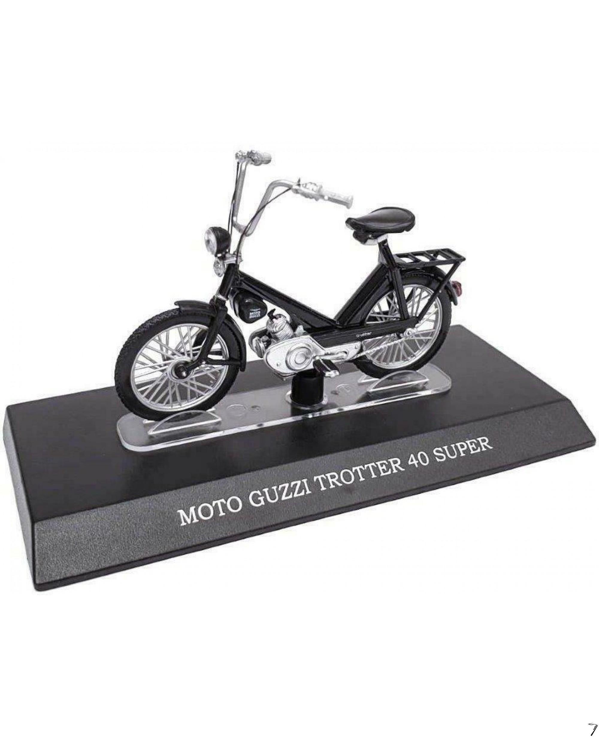 Moto Guzzi Trotter super 40, noir  1/18