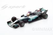 Mercedes W08 9th GP Mexico - World Champion - with pilote et British flag  1/18