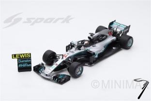 Mercedes W09 GP Mexique - Champion du Monde  - avec panneau
