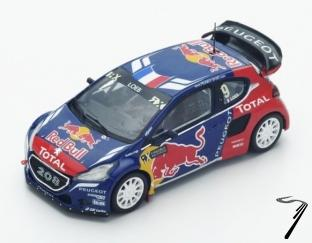 Peugeot 208 WRX  1er World RX Latvia  1/43