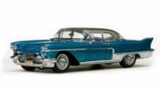 Cadillac . Brougham bleu métallisé/argent 1/18
