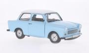 Trabant . De Luxe blue/white 1/18