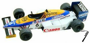 Williams FW10 HONDA Monaco G.P.  1/43