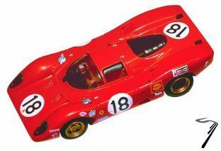 Ferrari 312P  24 H Le Mans  1/43