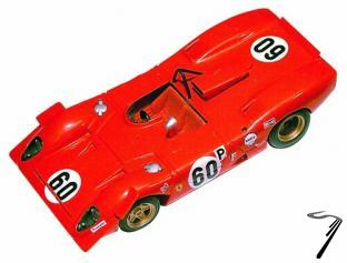 Ferrari 312P   BOAC 500 Brands Hatch  1/43