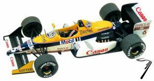 Williams FW12 JUDD Brazilian G.P.  1/43