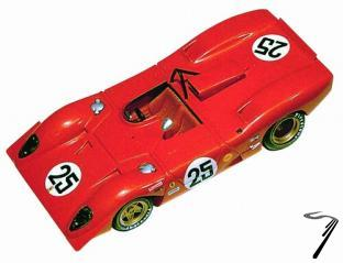 Ferrari 312P  12 H Sebring  1/43