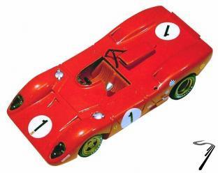 Ferrari 312P  1000km Monza  1/43
