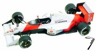 Mac Laren MP4/5b HONDA U.S.A. G.P.  1/43
