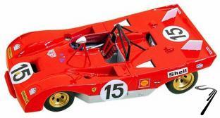 Ferrari 312P Sport  1000km Monza  1/43