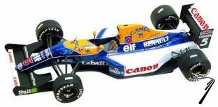 Williams FW14b RENAULT South African G.P.  1/43
