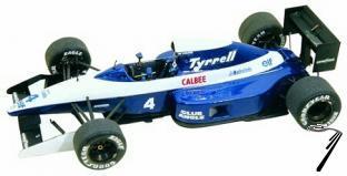 Tyrrell 020b ILMOR Mexican G.P.  1/43