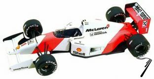 Mac Laren MP4/7 HONDA British G.P.  1/43