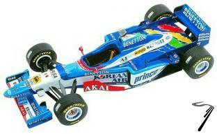 Benetton B197 RENAULT Monaco G.P.  1/43