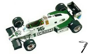 Williams FW08C FORD Monaco G.P.  1/43