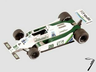 Williams FW07 FORD British G.P.  1/43