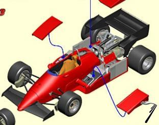 Ferrari 126 C3 GP Allemagne chassis ouvert  1/43