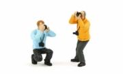 Divers set de 2 figurines photographes set de 2 figurines photographes 1/43