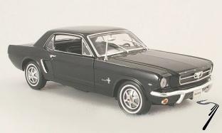 Ford Mustang hard top noir hardtop noir 1/18