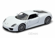 Porsche . Spyder Hard Top blanche/noir 1/18