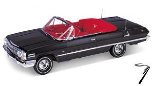 Chevrolet Impala Cabriolet noir Cabriolet noir 1/18